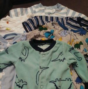 Newborn Boys Sleeper Pajamas #0137